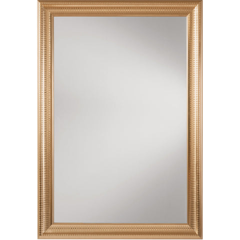 OSP Savoy Rectangle Wall Mirror with Regency Gold Frame