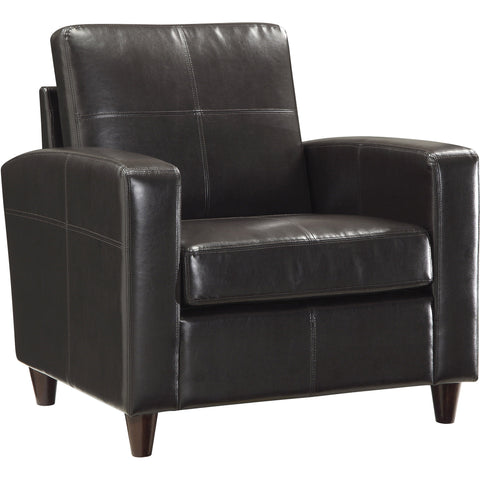 OSP Metro Club Chair with Ottoman, Expresso Faux Leather
