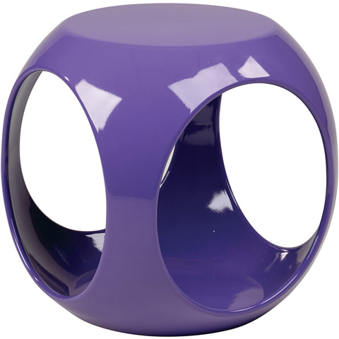 Slick Accent Cube Table with High Gloss Finish, Purple