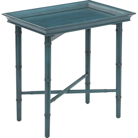 OSP Salem Folding Serving Tray, Blue Finish