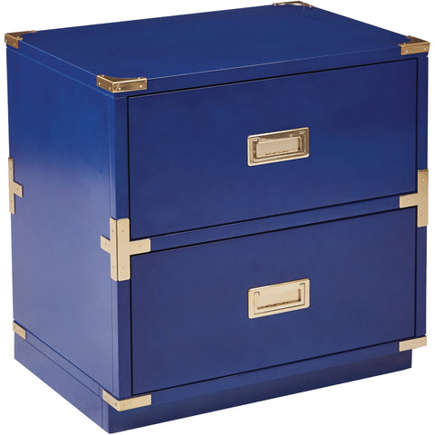 OSP Wellington 2-Drawer Cabinet, Lapis Blue
