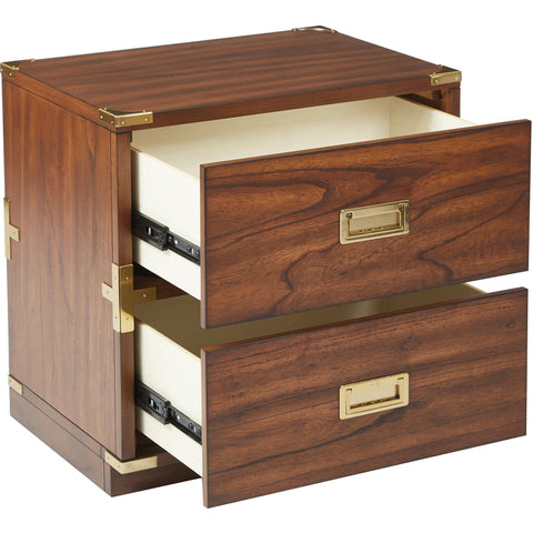 OSP Wellington 2-Drawer Cabinet, Toasted Wheat