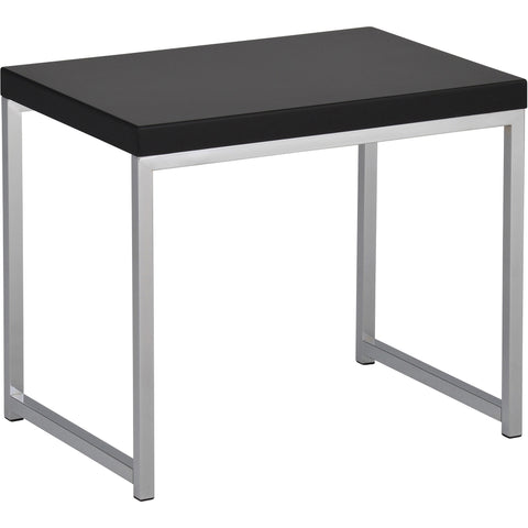 Wall Street End Table, Black Finish