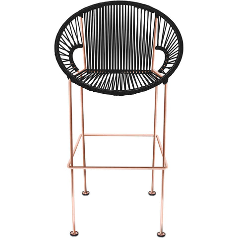 Puerto Vinyl Cord Counter Stool, Copper Frame
