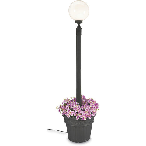 European Single White Globe Planter Lamp