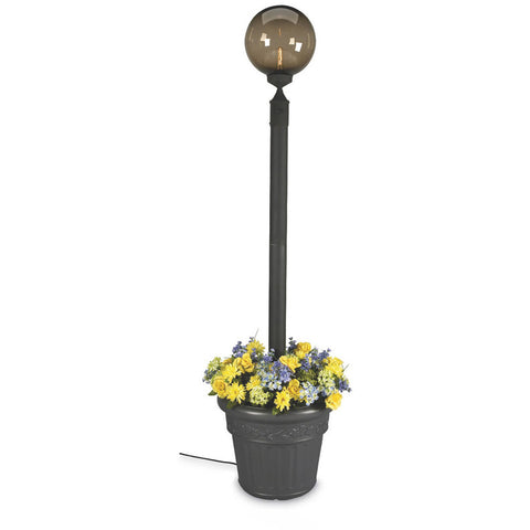 European Single Bronze Globe Planter Lamp