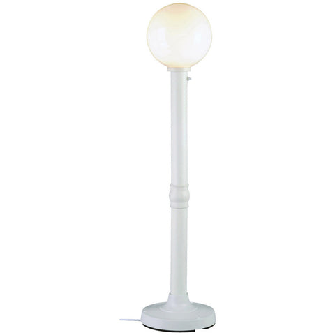 "Moonlite 64"" Outdoor Floor Lamp with White Tube Body & White Globe"