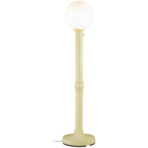"Moonlite 64"" Outdoor Floor Lamp with Bisque Tube Body & White Globe"