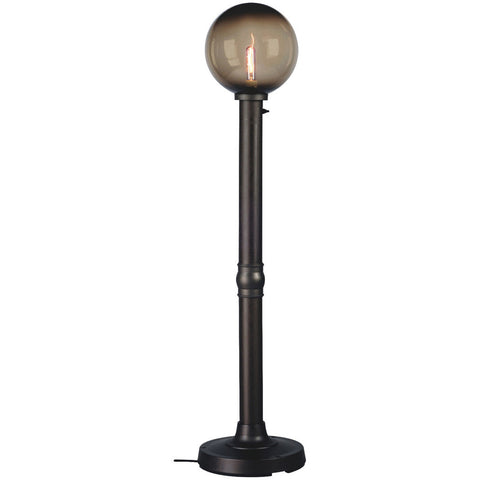 "Moonlite 64"" Outdoor Floor Lamp with Black Tube Body & Bronze Globe"