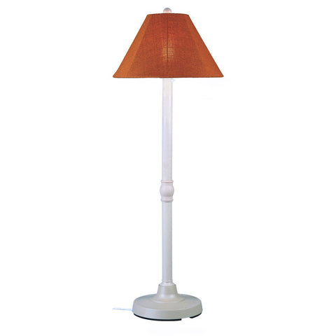 San Juan Outdoor Floor Lamp with White Body & Chili Linen Sunbrella Shade