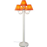 Versailles Outdoor Floor Lamp with White Body & Canvas Melon Sunbrella Shades - etriggerz.com