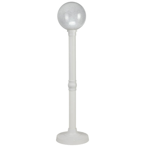 Milano White with White Globe Lantern