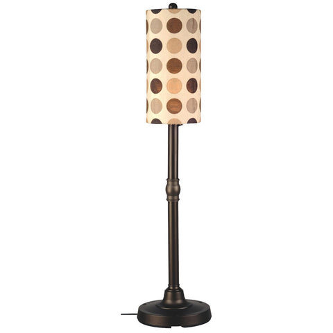 "Coronado 58"" Outdoor Floor Lamp with Bronze Body & Mojito Coffee Bean Sunbrella Shade"