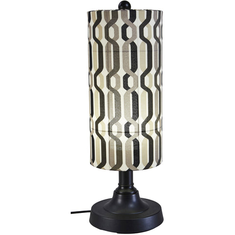 "Coronado 30"" Outdoor Table Lamp with Black Body & New Twist Caviar Outdoor Fabric Shade"