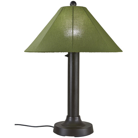 Catalina Outdoor Table Lamp with Bronze Body & Spectrum Cilantro Sunbrella Shade