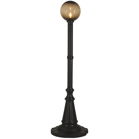 Milano Black with Bronze Globe Lantern