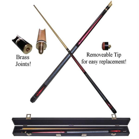 Ruby Red Designer 2 Piece Pool Cue With Case By TG. $94.99. Rubber Chalk  Holder   Billiard Pool Table Chalk Accessory