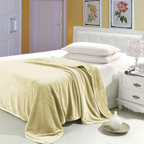 Lavish Home Super Soft Flannel Blanket - Full-Queen