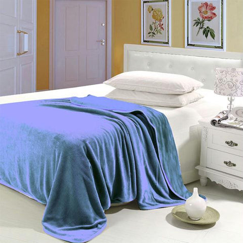 Lavish Home Super Soft Flannel Blanket - King