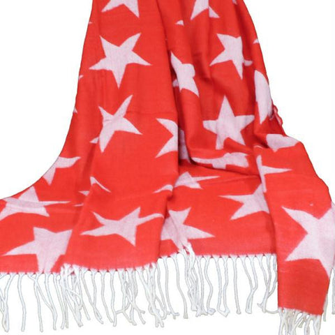 Lavish Home Jacquard Blanket Throw - Stars