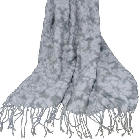 Lavish Home Jacquard Blanket Throw - Blue