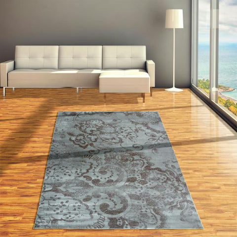 "Lavish Home Mosaic Area Rug - 60"" x 87"" - Blue"