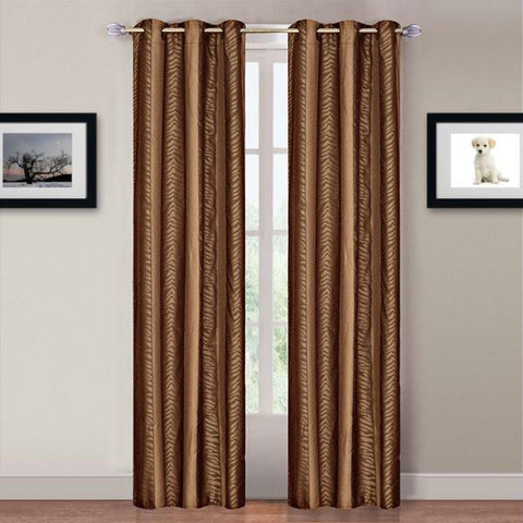 Lavish Home Katrina 2 Panel Grommet Curtains - Animal