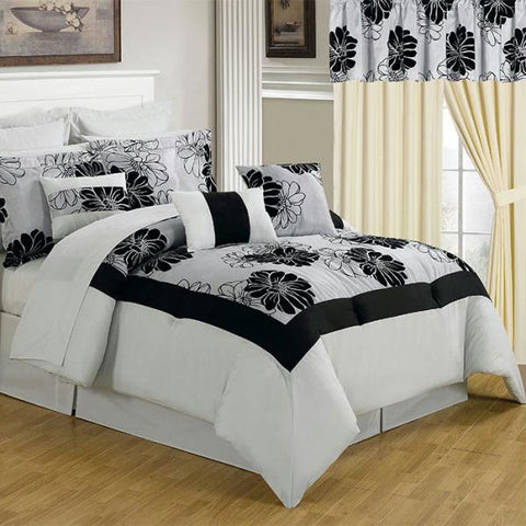 Lavish Home 24 Piece Room-In-A-Bag Madison Bedroom - Queen
