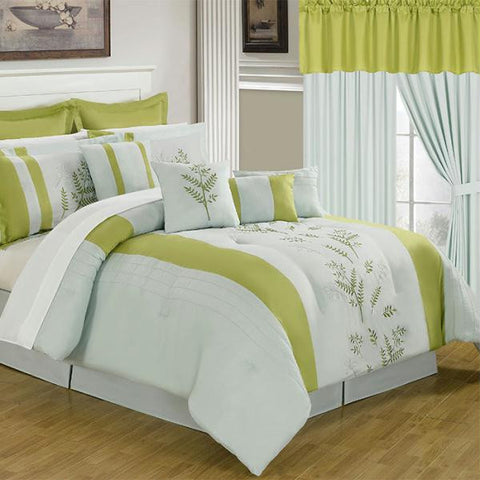 Lavish Home 25 Piece Room-In-A-Bag Maria Bedroom - King