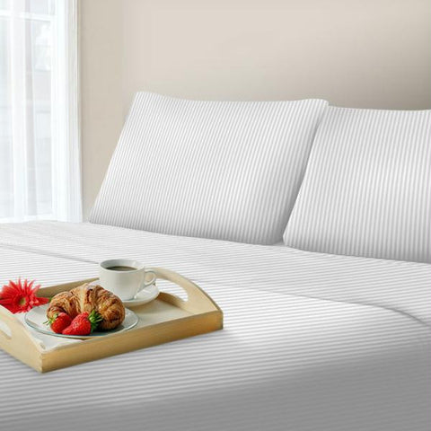 Lavish Home 300 Thread Count Cotton Sateen Sheet Set - Queen - White