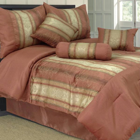 Lavish Home 300 Thread Count Cotton Sateen Sheet Set - Queen - Brown