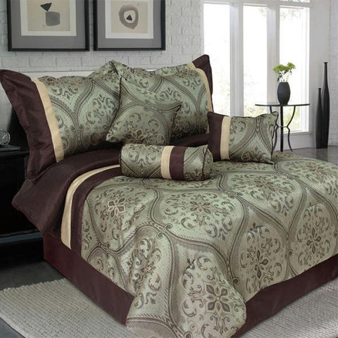 Lavish Home 7 Piece Queen Barcelona Comforter Set