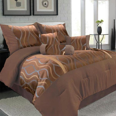 Lavish Home 7 Piece King Galina Comforter Set