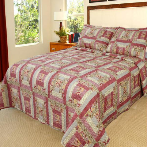 Lavish Home Melissa Quilt 3 Piece Set - King