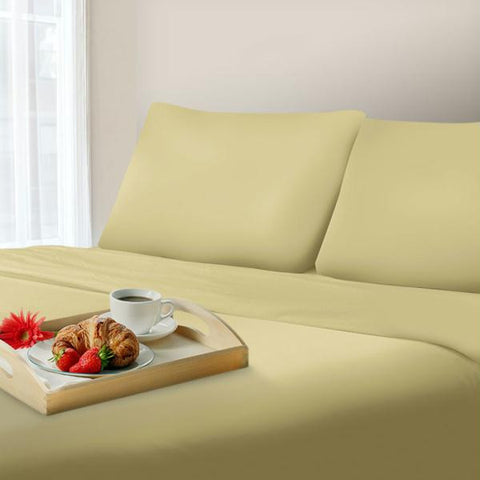 Lavish Home 600 Thread Count Cotton Sateen Sheet Set - King - Sage