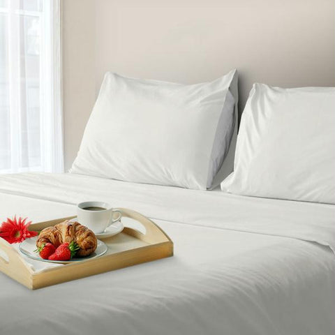 Lavish Home 600 Thread Count Cotton Sateen Sheet Set - King - White
