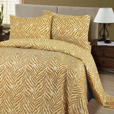 Lavish Home Series 1200 4 Piece Full Sheet Set - Tiger