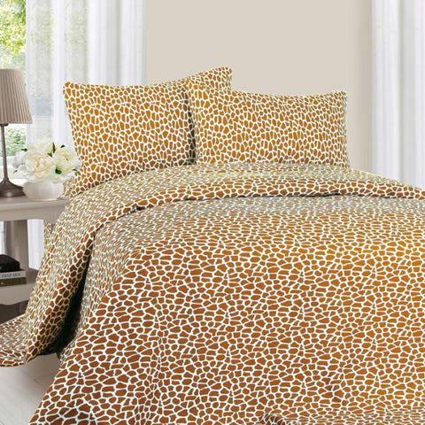 Lavish Home Series 1200 4 Piece Queen Sheet Set - Giraffe