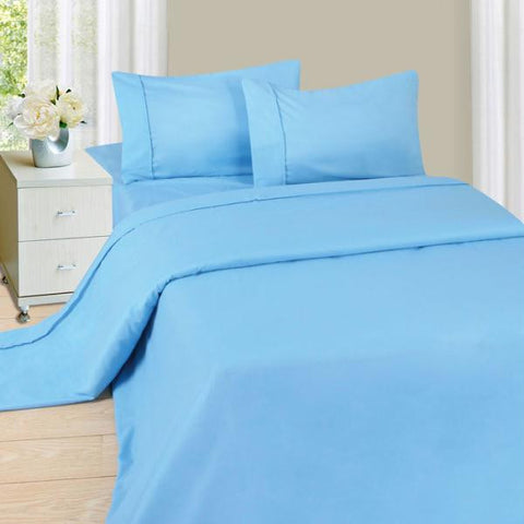 Lavish Home Series 1200 4 Piece Queen Sheet Set - Blue