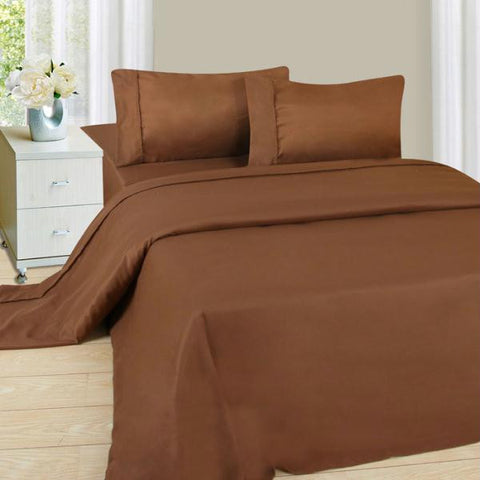 Lavish Home Series 1200 4 Piece Queen Sheet Set - Chocolate