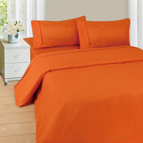 Lavish Home Series 1200 4 Piece Queen Sheet Set - Rust