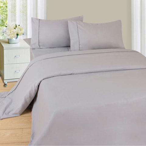 Lavish Home Series 1200 4 Piece Queen Sheet Set - Silver