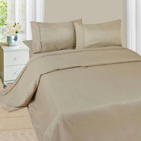 Lavish Home Series 1200 3 Piece Twin Sheet Set - Bone