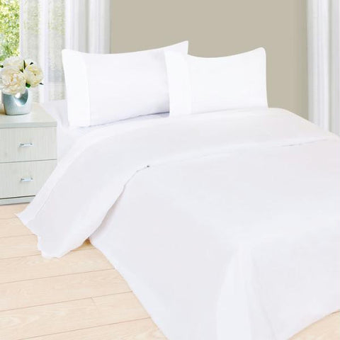 Lavish Home Series 1200 3 Piece Twin Sheet Set - White