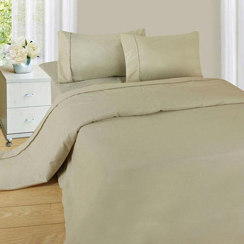 Lavish Home Series 1200 3 Piece TwinXL Sheet Set - Bone