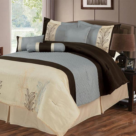 Lavish Home Samantha 7 Piece Embroidered Comforter Set - Kin