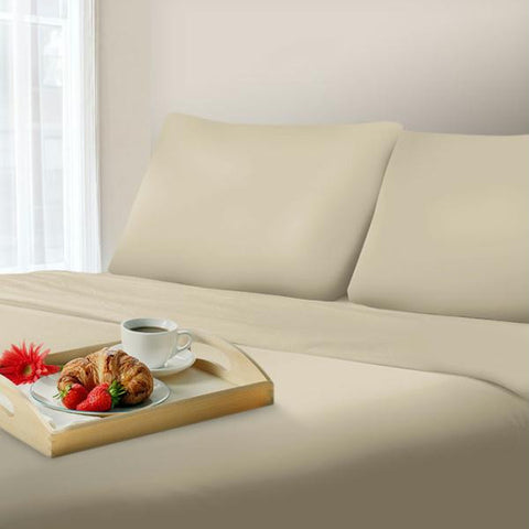 Lavish Home 1000 Thread Count Cotton Sateen Sheet Set Queen Champagne