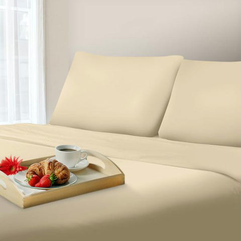 Lavish Home 1000 Thread Count Cotton Sateen Sheet Set - Queen - Ivory