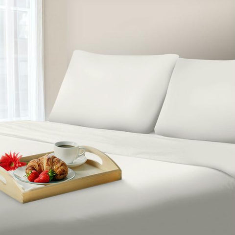 Lavish Home 1000 Thread Count Cotton Sateen Sheet Set - Queen - White