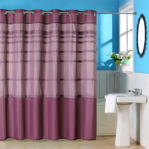 Lavish Home Orleans Pintuck Shower Curtain w- Grommets